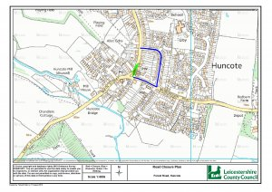 Temporary Restrictions of Forest Road, Huncote