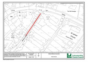 Temporary Traffic Regulation Order - Brook Street, Huncote