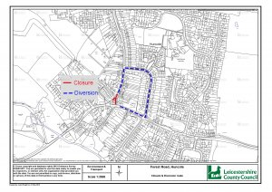Temporary Traffic Regulation Order - Forest Road, Huncote